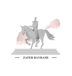 Zafer bayrami celebration victory vector