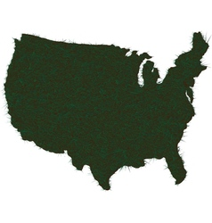 AMERICA MAP GRASS vector image