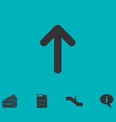 arrow up icon flat vector image
