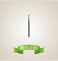 realistic eye paintbrush element vector image