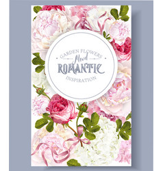 romantic garden banner vector image vector image