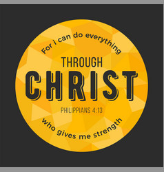 Bible quote from philippians on polygon background vector