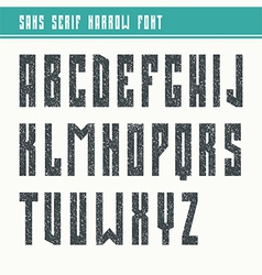 Bold sans serif font in retro style vector image vector image