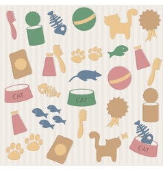 Cat pattern vector image vector image