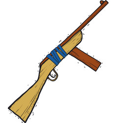 child wooden gun vector image vector image