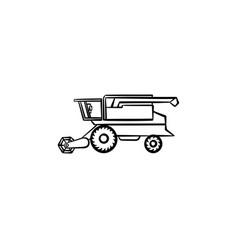 combine harvester hand drawn sketch icon vector image