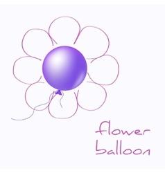 Flower balloon vector image