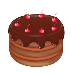 Pie with cherry vector