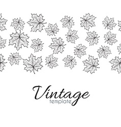 Retro pattern for design of leaves Leaves in vector image