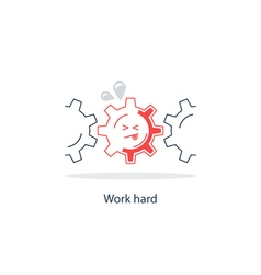 Too much work concept vector image
