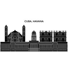 cuba havana city architecture city skyline vector image