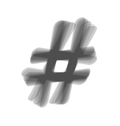 hashtag sign gray icon vector image