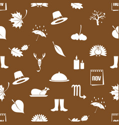 november month theme set of icons red and white vector image vector image