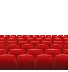 Red seats with screen vector image