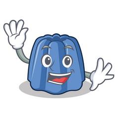 waving jelly character cartoon style vector image vector image