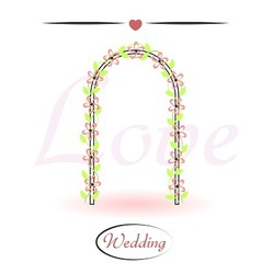 Wedding arch decorated with flowers vector image