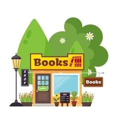 Books shop facade vector image vector image