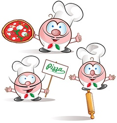 italian chef set vector image