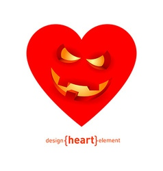 Abstract design element heart with smile vector image