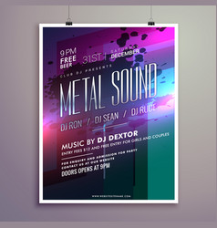abstract music flyer template for new year vector image