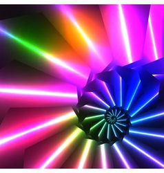 Abstract shiny spiral bright background vector