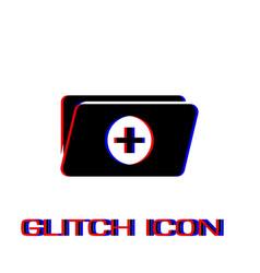 Add folder icon flat vector