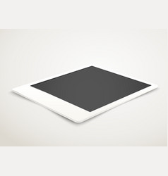 Blank photo frame in perspective vector image