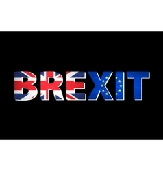 Brexit text isolated united kingdom exit from vector