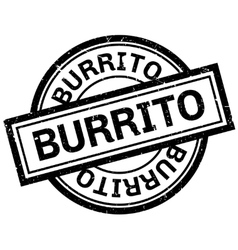 Burrito rubber stamp vector