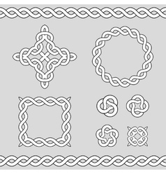 Celtic ornamental design elements vector