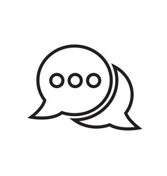 chat icon isolated sign symbol vector image