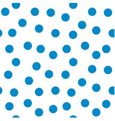 Circle blue seamless pattern vector