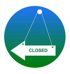 closed sign white icon in vector image