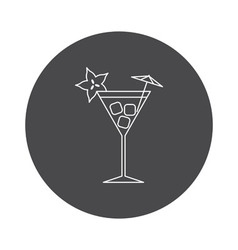 Cocktail icon outline vector image