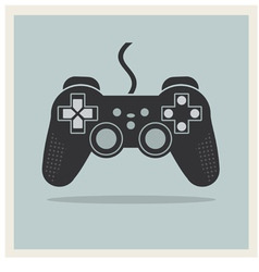 Computer Video Game Controller Joystick vector image