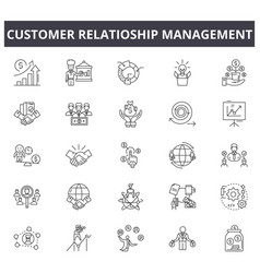 customer relationship management concept line vector image