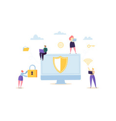 data protection privacy concept confidential vector image