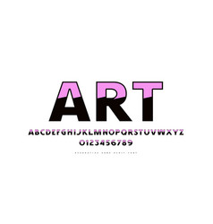 decorative sans serif font in retro style vector image