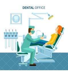 Dental office poster vector