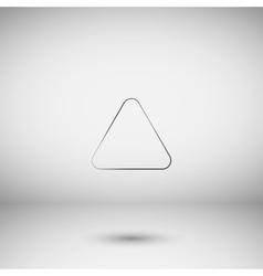 Direction arrow up icon vector