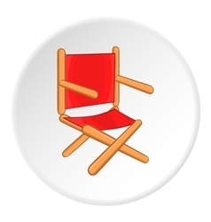 Directors chair icon cartoon style vector image