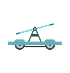 draisine or handcar icon flat style vector image