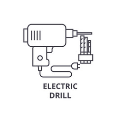 Electric drill line icon sign vector