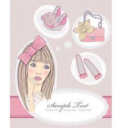 fashion girl dreaming vector image