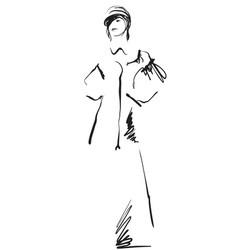 Fashion sketch model vector