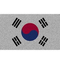 Flags Korea South on denim texture vector