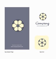 football company logo app icon and splash page vector image