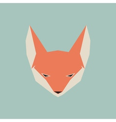 Fox face icon vector