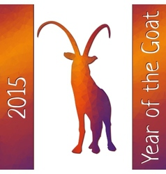 Geometric pattern goat for new year vector
