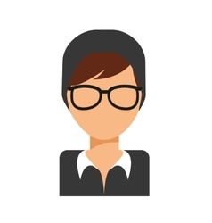 Glasses girl icon vector